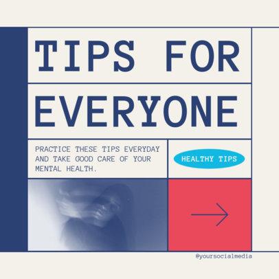 Instagram Post Generator for a Healthy Tips Carousel 4144B-el1