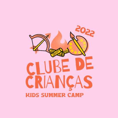Logo Template for a Brazilian Summer Camp for Kids 4486g
