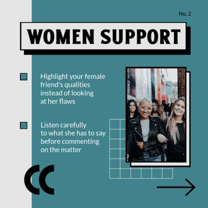 Instagram Post Design Generator With a Supportive Feminist Message for a Carousel 4157c-el1