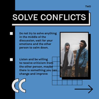 Carousel Instagram Post Design Maker to Share Conflict Resolution Tips 4157a-el1