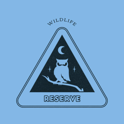 Logo Creator for a Wildlife Reserve Featuring an Owl Clipart 4482c