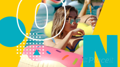 Facebook Cover Video Template for a Clothing Brand Featuring a Summer Theme 1224c 3679