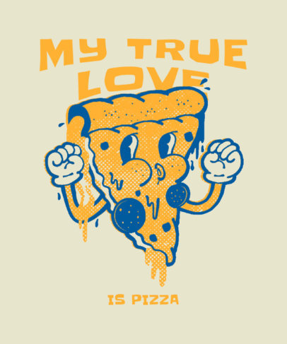 T-Shirt Design Maker to Celebrate Junk Food Day With a Pizza Cartoon 3849d