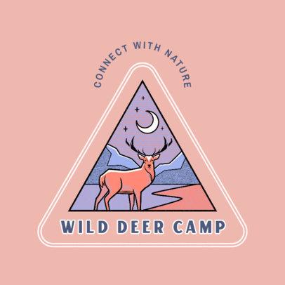 Logo Maker for a Campsite Featuring a Reindeer Illustration 4482h