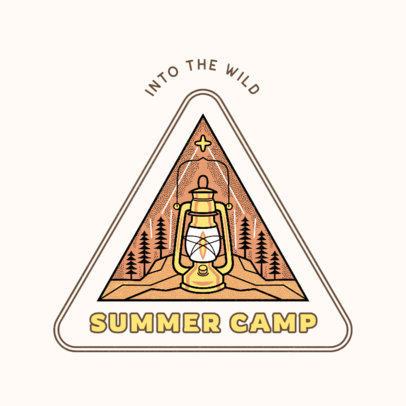 Logo Template for a Summer Camp Featuring a Lantern Clipart 4482i