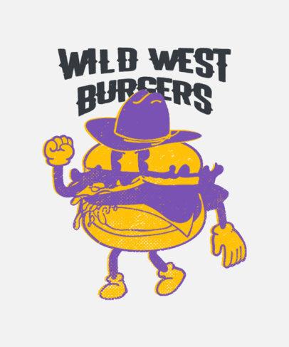 Junk Food Day-Themed T-Shirt Design Maker Featuring a Burger Cartoon 3849i