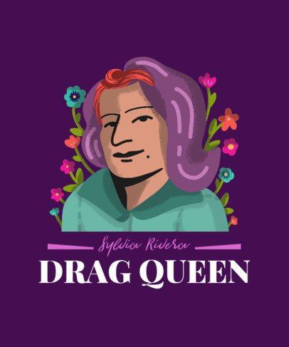 T-Shirt Design Creator Featuring a Hispanic Drag Queen Illustration 3857h