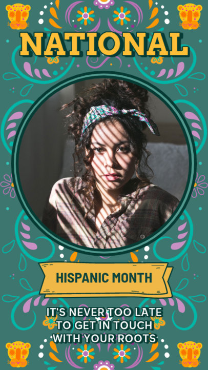 Colorful Instagram Story Design Template With a Hispanic Heritage Month Theme 3864a