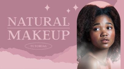 YouTube Thumbnail Design Template for Makeup Tutorials 4163d-el1