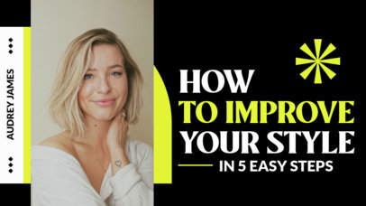 YouTube Thumbnail Design Template for Fashion and Self-Care Tips and Tutorials 4171-el1