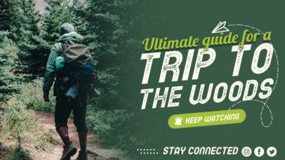 YouTube Thumbnail Design Maker for Hiking-Themed Channels 4169c-el1