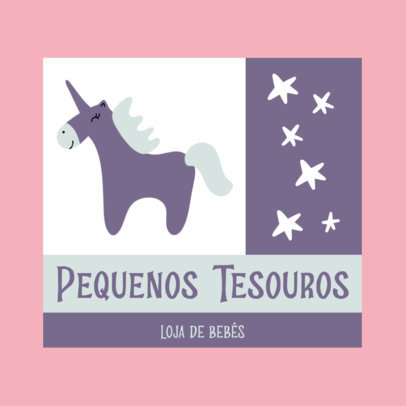 Logo Generator for Baby Product Stores Featuring a Cute Unicorn Graphic 4191f-el1