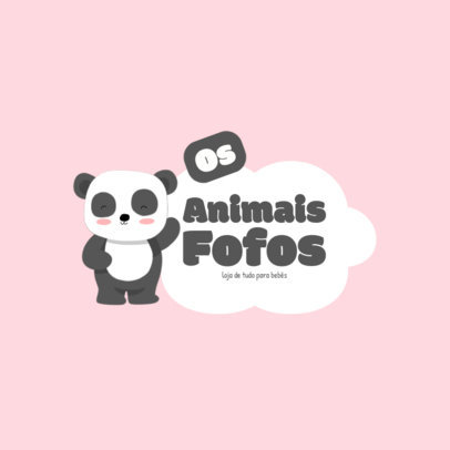 Logo Template for a Baby Products Store with a Panda Graphic 4189e-el1