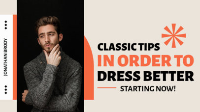 YouTube Thumbnail Maker for Tips to Dress Better 4171a-el1