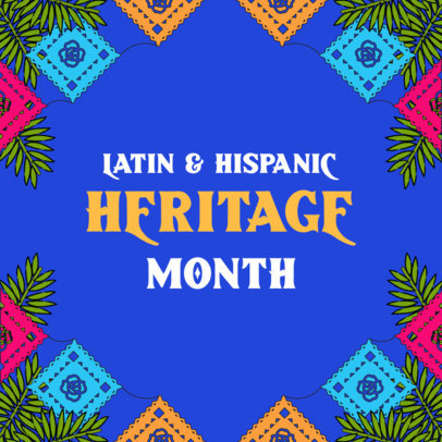 Hispanic Heritage Month-Themed Instagram Post Design Maker  3861a