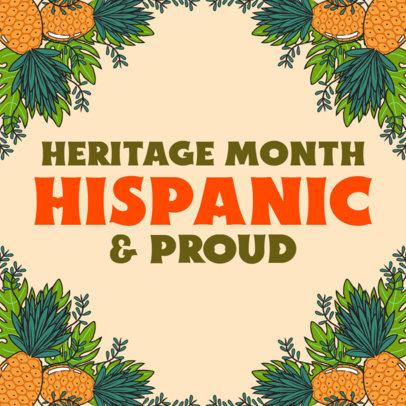 Instagram Post Design Creator With a Hispanic Heritage Month Theme 3861c