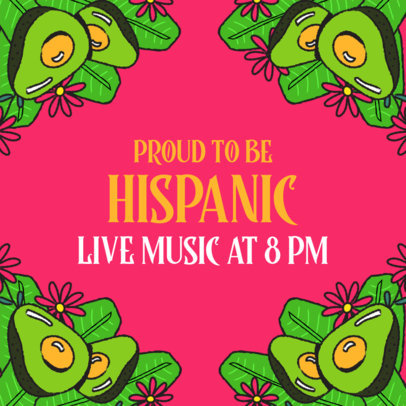 Hispanic Heritage Month-Themed Instagram Post Design Generator 3861d