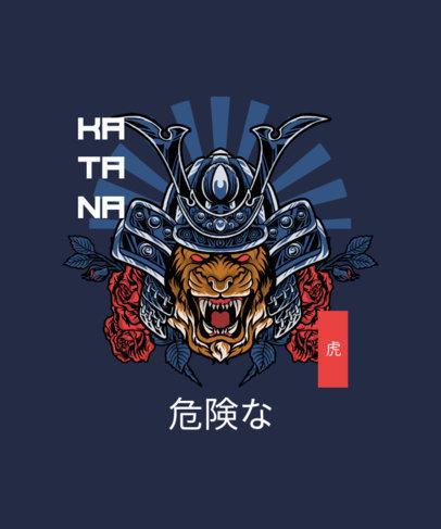 T-Shirt Design Generator with a Graphic of a Samurai Tiger 4173c-el1