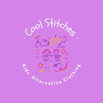Logo Creator for a Kids' Boutique Featuring Friendly Doodles 4497d