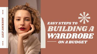 YouTube Thumbnail Maker for Tips on Fashion Budget 4171d-el1