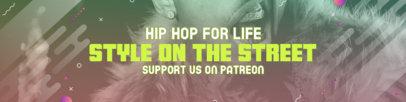Patreon Cover Template for an Urban Hip Hop Artist 3872d