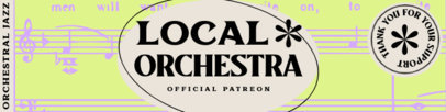 Patreon Cover Template for a Local Orchestra 3874a