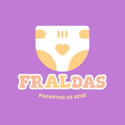 Dropshipping Logo Creator with a Cute Diaper Graphic 4496a