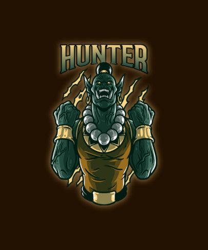 Heavy Metal T-Shirt Design Generator for a Mortal Kombat Fan 4503c