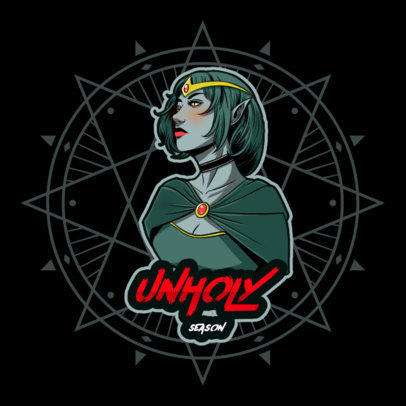 Gaming Logo Maker in Reference to Zelda With a Heavy Metal Aesthetic 4492i