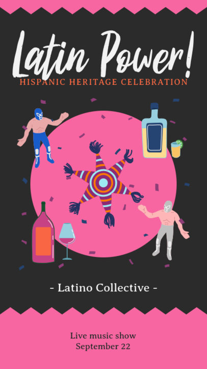 Instagram Story Creator for a Hispanic Heritage Party Featuring Latin Culture Graphics 3862b