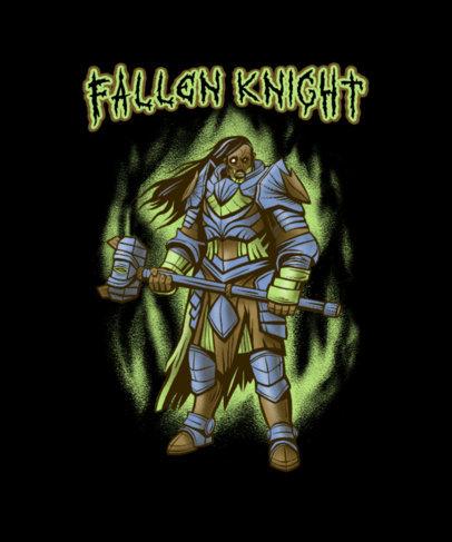 T-Shirt Design Generator Featuring an Undead Warrior Graphic 4501f