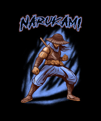 T-Shirt Design Maker for Gamers Featuring a Ninja Character 4501h