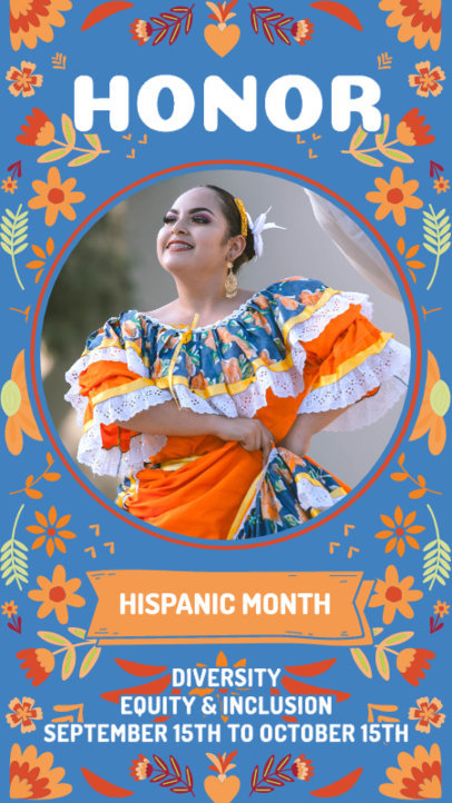 Hispanic Heritage Month-Themed Instagram Story Design Maker With Colorful Patterns 3864b