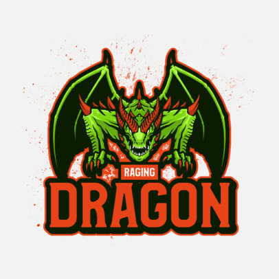 Logo Maker for a Gaming Streamer Featuring a Raging Dragon 4129e-el1