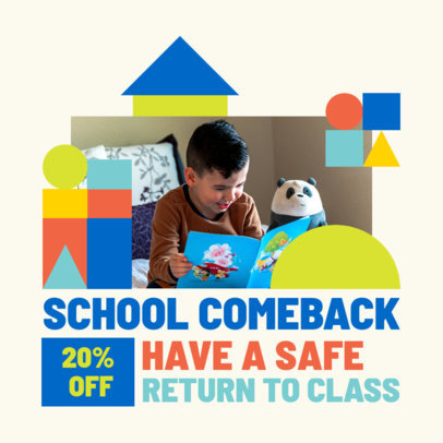 Back-to-School-Themed Instagram Post Design Creator With Pictures 4211d-el1
