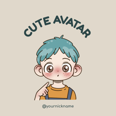 Logo Maker of a Cute Male Avatar with Freckles 3300m