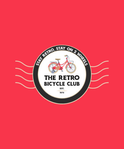 T-Shirt Design Generator for a Retro Bicycle Club 4201c-el1