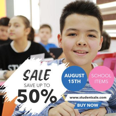 Instagram Post Generator Featuring a Special Back-to-School Discount 4215a-el1