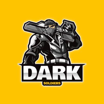 Gaming Logo Maker Featuring a Futuristic Shooter Character 4221a-el1