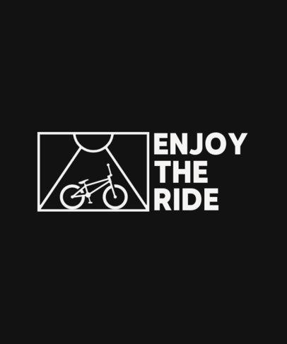 Minimal T-Shirt Design Generator for Cycling Enthusiasts 4207g-el1
