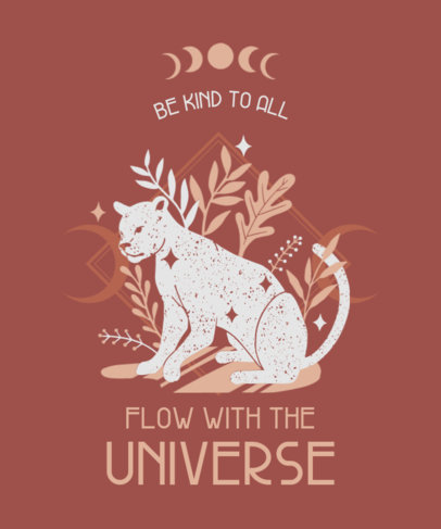 Esoteric T-Shirt Design Generator With a Quote and a Big Cat Clipart 3885e