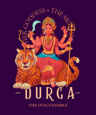 T-Shirt Design Creator Featuring a Graphic of a Hindu Goddess 3891b