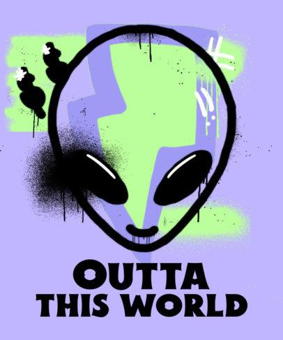 Grunge T-Shirt Design Creator with a Graffiti Alien Head 3683f