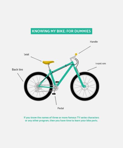 Biking-Themed T-Shirt Design Creator 4203b-el1