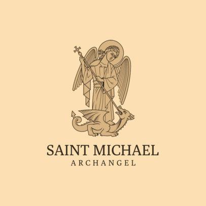 Catholic Church Logo Maker Featuring a Saint Michael Archangel Graphic 4510f
