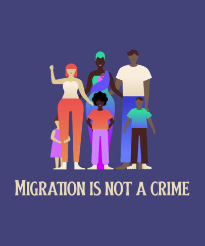Illustrated T-Shirt Design Maker for an Immigration Rights Movement 3883e