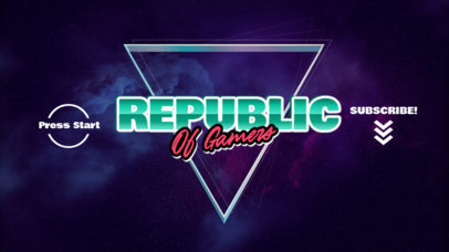 Retro YouTube Banner Generator for Gamers Featuring Neon Graphics 939b-el1