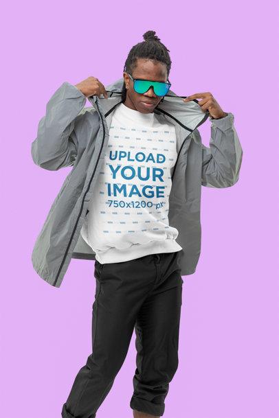 Sweatshirt Mockup of a Swaggy Man Wearing an Athleisure Attire m10788