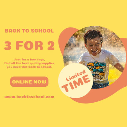 Instagram Post Design Template Featuring a Back-to-School Offer 4213d-el1