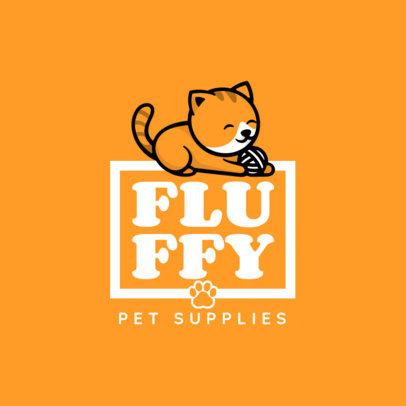Pet Supplies Logo Maker with Cute Animal Graphics 4243-el1